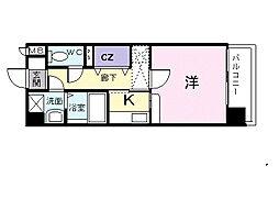 福岡県福岡市早良区賀茂3丁目の賃貸マンションの間取り
