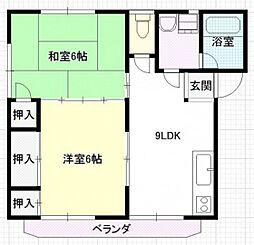 エステート坪井[2階]の間取り