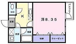 ソレイユ K[203号室号室]の間取り