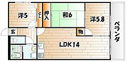 セントラルパーク浅生[6階]の間取り
