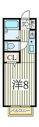 ビューラM[1階]の間取り