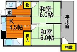 [一戸建] 岡山県岡山市中区高屋 の賃貸【/】の間取り