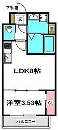 センターアヴェニュー守口 5階1Kの間取り