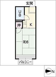 ハイツセイントフォー[2階]の間取り