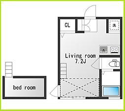 チトカラアパートメント[101号室]の間取り