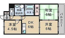 メゾンドヴォーヌ21[7階]の間取り