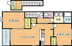 サンパティークメゾン A棟[2階]の間取り