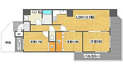 クリアクレセント住之江[8階]の間取り
