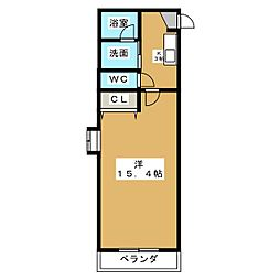 メゾンあたけ[3階]の間取り
