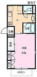 長野県長野市大字安茂里差出北の賃貸アパートの間取り