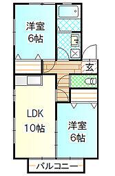 プランデスポワール[2階]の間取り