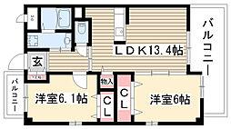 REGARO名古屋East[702号室]の間取り