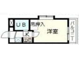 イジェント生田[1階]の間取り