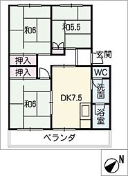パビリオン菫台A棟 208号室[2階]の間取り