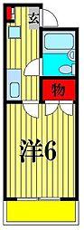 ジュネシオンMITSURU[4階]の間取り
