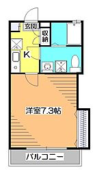 東京都小平市学園東町3丁目の賃貸アパートの間取り