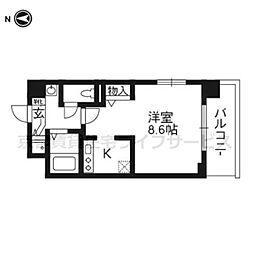 スワンズ京都二条城北206[2階]の間取り