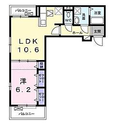 (仮)相模が丘3丁目アパート[302号室]の間取り