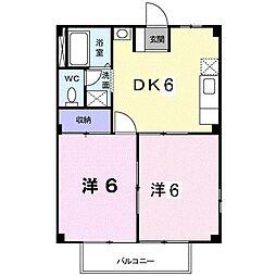 シティハイムA[0103号室]の間取り