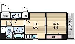 リビエール増井[7階]の間取り