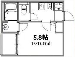 ベルメント東平賀[202号室号室]の間取り