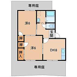 コスモ・スペース11[1階]の間取り