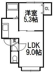 カームネスト21[102号室]の間取り