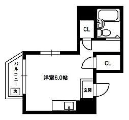 プレアール淡路[4階]の間取り