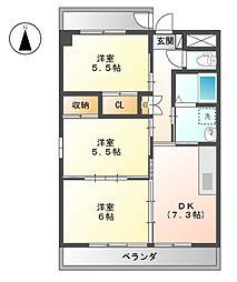 Grand Cha'teau III[3階]の間取り