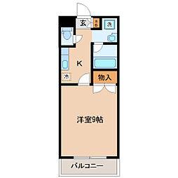 メゾンドールヘンミ[3階]の間取り