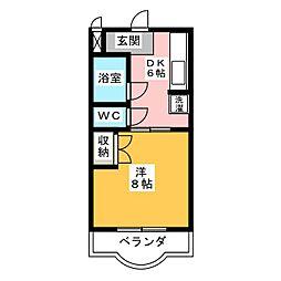 プランタンⅢ[3階]の間取り