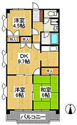 ラ・トール シノダ[3階]の間取り