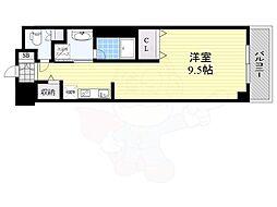 DAIWA RESIDENCE IBARAKI 1階ワンルームの間取り