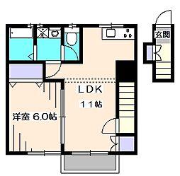ヴェール西東京[2階]の間取り