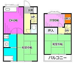 [テラスハウス] 東京都東久留米市下里3丁目 の賃貸【/】の間取り
