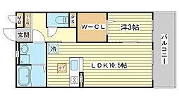 セジュール東阿保[B106号室]の間取り