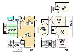 JR東海道・山陽本線 近江八幡駅 徒歩31分 5SLDKの間取り