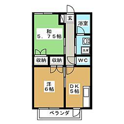 BKSハイツ[2階]の間取り
