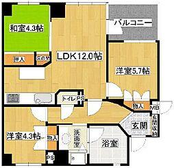 シャトレ高取[3階]の間取り
