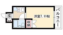 愛知県名古屋市昭和区塩付通1丁目の賃貸マンションの間取り