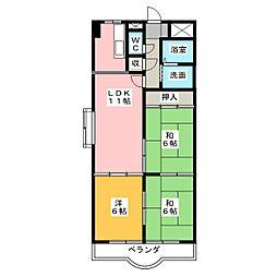 コンフォ・トゥール[6階]の間取り