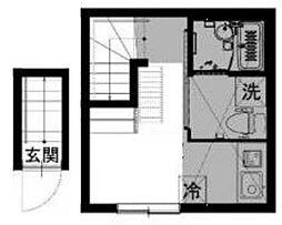 東京都大田区大森北6丁目の賃貸アパートの間取り