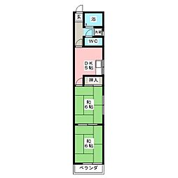 フォーブル稲荷[1階]の間取り