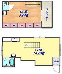 MASUDAアパートメント[204号室]の間取り