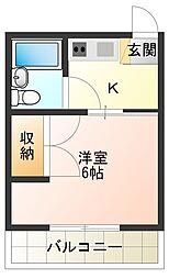 サンシャインプラザ[3階]の間取り