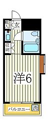 ジュネパレス柏第28[3階]の間取り