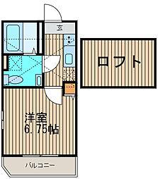 神奈川県川崎市幸区南加瀬5丁目の賃貸アパートの間取り