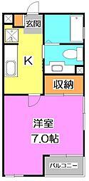 東京都練馬区春日町5丁目の賃貸アパートの間取り