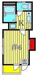 東京都葛飾区高砂5丁目の賃貸マンションの間取り
