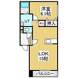 エタニティ11[102号室]の間取り